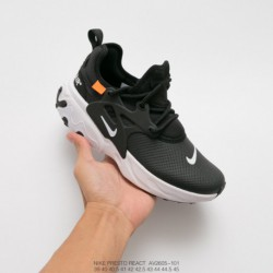 AV2605-101 nike leather upper ow crossover nike presto react undercover lacing up all-Match jogging shoe