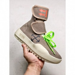 OFF-White High Street Style Factory Lacing Italian Import Elasticity Knitting Density Stretch Exclusive Original Logo Outsole S