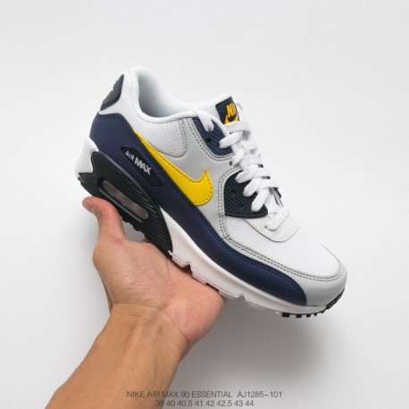 Nike Air Max 90 Essential Grey Blue,Nike Air Max 90 Essential Aj1285,AJ1285 101 Nike Air Max 90 Essential Mesh Air Sportshoes W