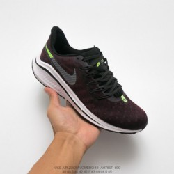 Ah7857-600 Nike Air Zoom Vomero 14th Marathon Cable Shaking Exercise Trainers Shoes Grey Black Garnet Fluorescent Gree