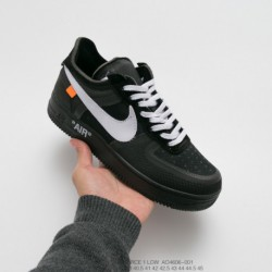 Ao4606-700 nike off-white X Nike Air Force 1 The Ten 2.0 Air Force One Classic All-Match casual skate shoes ow fluorescent gree