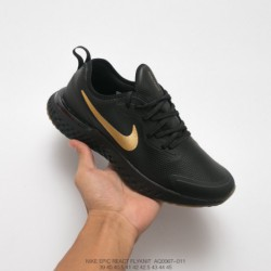Aq0067-001 nike epic react flyknit premium pro cotton granule leather ultra lightweight jogging shoes pro cotton granules knitt