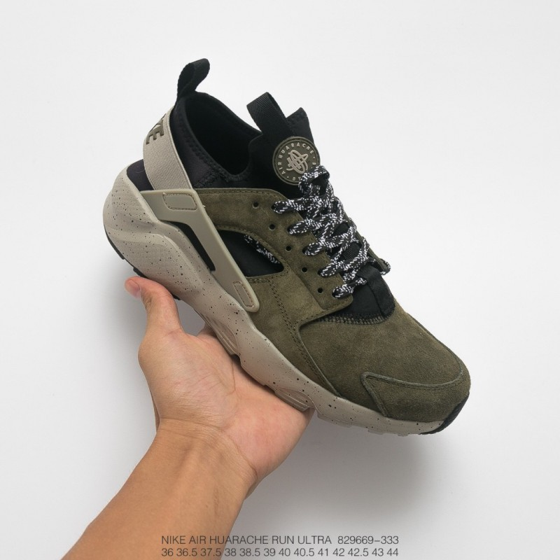 online store 8ccbf 96c3a Nike Huarache 4 Lx,669-333 Nike Air Huarache Ultra ID Wallace 4th Vintage  Jogging Shoes Marine Green Black and White is simplif