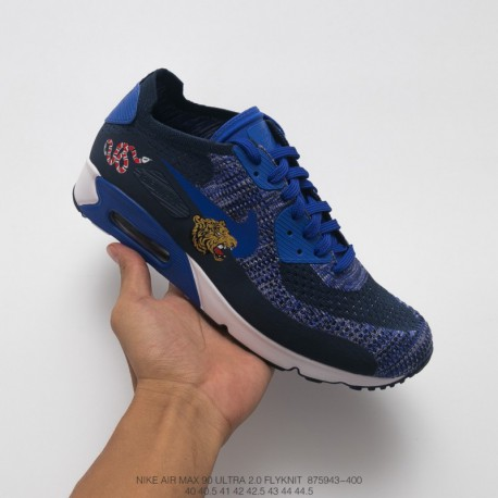 943-400 nike air max 90 ultra 2.0 flyknit half palm air mesh breathing trainers shoe