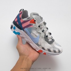 Aq3057-100 Nike Creative Tripart Crossover Dutch Pioneer Artist Crossover Parra Off White X Nike REACT Element 87 Parra Underco