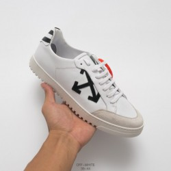 Vans X OFF-WHITE Vulc Low Top Salute Classic Virgil Abloh Designer Vulcanize Leather Upper Skate Shoes Blac