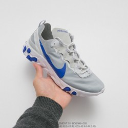 Nike Officially Released UNISEX FSR Nike React Element 55 Lite Light Opaque Element All-Match jogging shoes cloth light grey bl