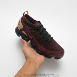 At8655-600 Nike Air VaporMax Flyknit 2.0 Nrg Leather Material Embellishe