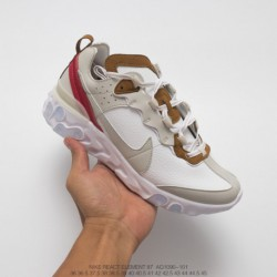 Aq1090-101 Nike Undercover Lead Brand Crossover UNDERCOVER X Nike Upcoming React Element 87 Leather Upper Reaction Element Avan