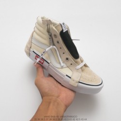 VANS Salute Ow X Nike Deadstock Vault Sk8-hi Cap LX Deconstruction High Duck Skate Shoes High White Is Now Popular Deconstructi