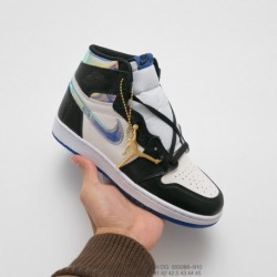 088-910 jordan/ Air Jordan 1 Jth Nrg Tinker Aj1 Joe 1 Crossover White Black And Blue Sole Is Made Of Rubber Materia