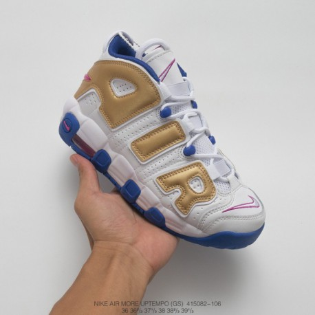 bc6b4bdbb1 082-106 Nike Air More Uptempo Pippen AIR Culture Basketball-shoes In The  Golden
