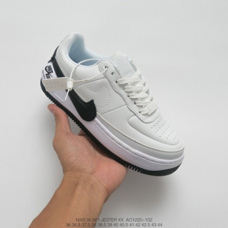 outlet store 01837 8715b Nike Air Force 1 Jester White,Nike Air Force 1 Jester,AO1220-102 Nike  Womens AF1 JESTER XX Air Force One Lightweight Low All-ma