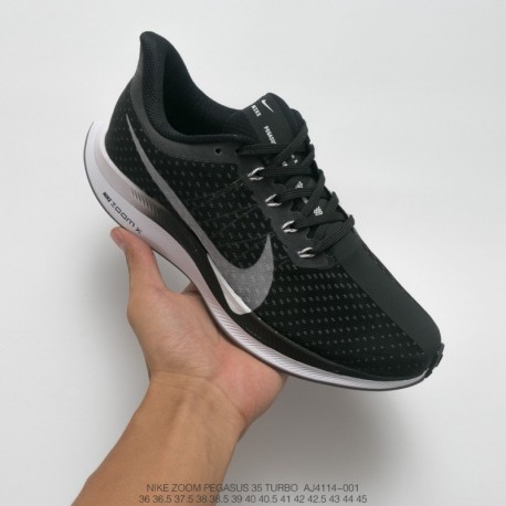 a3c867b48ec Aj4114-001 nike zoom pegasus turbo 35 turbo marathon jogging shoes black  and white gradient