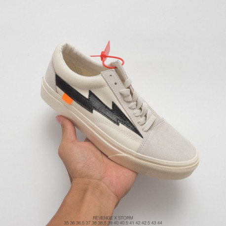 VANS Anti-counterfeit Watermark Lined Bespoke Crossover Offwhite X Revenge Storm Revenge X Storm Pop-up Store Second Generation