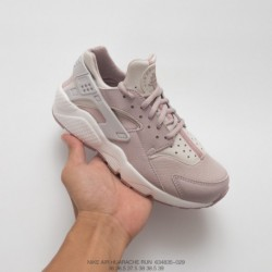 835-029 Nike Womens Air Huarache Wallace Vintage Jogging Shoes White Light Grey Powder Foreole's Groove Improves For Bending AI