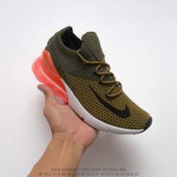 Nike-Air-270-Black-AO1023-003-Nike-Air-270-Flyknit-Seat-Half-Palm-Air-Jogging-Shoes