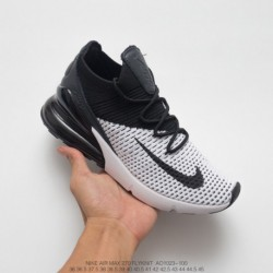Nike-Air-270-White-AO1023-003-Nike-Air-270-Flyknit-Seat-Half-Palm-Air-Jogging-Shoes