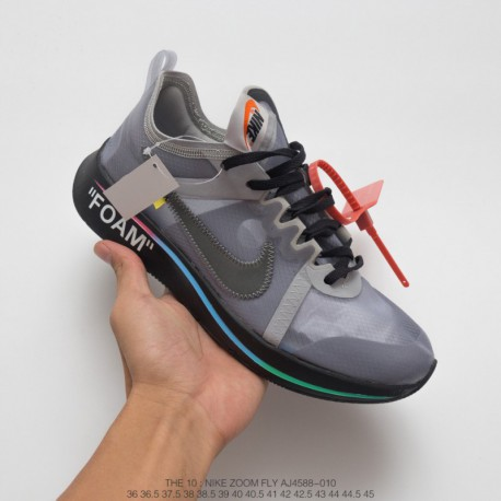 Aj4588-106 Nike Virgil Abloh Designer Independent Brand Super Limited Edition Off White X Nike Zoom Fly Lightweight Jogging Sho