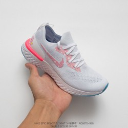 Aq0070-999 Pigspeid ID Bespoke Colorway Nike Epic React Flyknit Id Pro Cotton Granules Knitting Ultra Lightweight Jogging Shoes