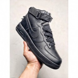 Nike Air Force 1 MID Creative Crossover Entity For Original Air Force Classic Mid Skate Shoes Stringed Edition Ow Upper Lichee
