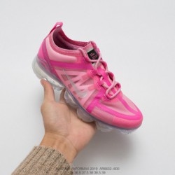 Ar6632-600 Nike Vapormax VM3·2019 Translucent Upper Air Max Jogging Shoes Transparent Powder Plating Primer Upper Gives Up The