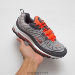 All-White-Nike-Air-Max-98-744-006-Nike-Air-Max-98-Vintage-Air-All-match-Jogging-Shoes-Grey-Orange-White-Vintage-ColorWay-Appear