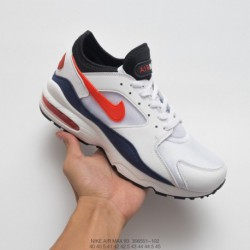 Cheap-Nike-Air-Max-93-551-102-Nike-Air-Max-93-OG-Vintage-Air-Short-Legging-Jogging-Shoes-White-Navy-Black-Vermilion