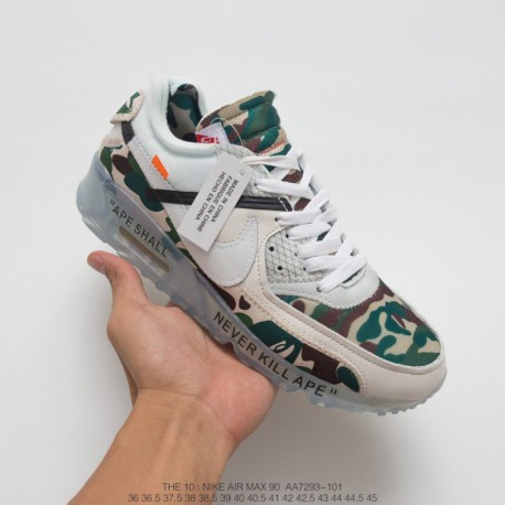sports shoes 00885 34110 Nike Air Max 90 Off White Virgil,Nike Off White Air Max 90 Ice,AA7293-101  Nike Virgil Abloh Designer Independent Brand OFF whit