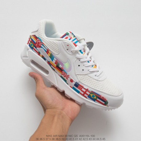 262b768a6d Ao5119-100 World Cup Limited Edition Nike Air Max 90 NIC Qs Vintage Air  Jogging