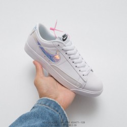 471-109 nike blazer low premium blazer limited edition all-match white skate shoes white lase