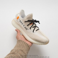 B37570 creative crossover off-white X Adidas Yeezy Boost 350V2 Yeezy Crossover BASF Ultra Boost Racing Shoes Off-White yellow t