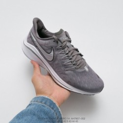 Ah7857-002 Nike Air Zoom Vomero 14th Marathon Cable Shake Sports Trainers Shoes Smoke White Trainers Shoes Is Not Only Soft And
