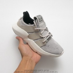 B37182 adidas originals prophere hedgehog sets footknit all-match jogging shoes off-white blac
