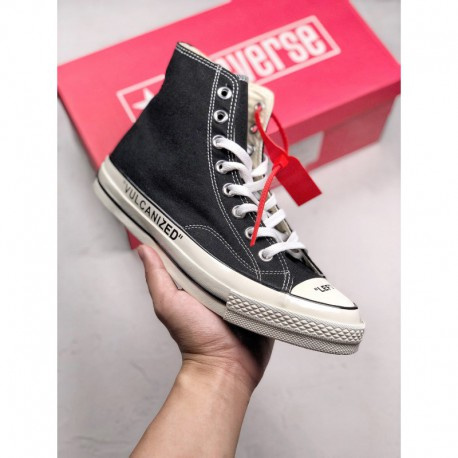 OFF WHITE X Converse Chuck Taylor 1970s Black Exposure For The First Exposed Shoe And Left At The Toe Ca