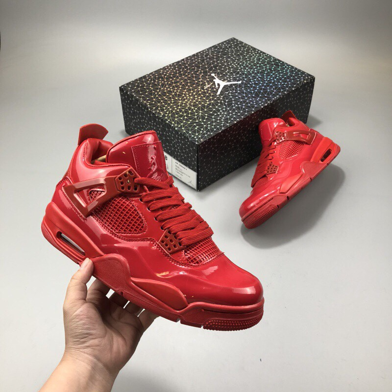 separation shoes 5b46a 988c0 Jordan 4 Red Patent Leather Covered Air Jordan 11lab4 Red Is Different From  Black s Low- ...