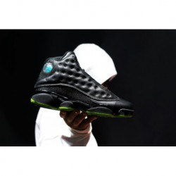 Jordan-13-Black-Green-Jordan-13-Green-Black-Air-Jordan-13-Altitude-Black-Green-Pearl-Fish-Skin