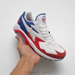 042-004 Nike World Cup Theme FSR Nike Air Max 180 OG 2 Generation Vintage All-Match jogging shoes french white red blu