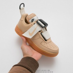 Ao1531-300 Nike Magnetic Deconstruction Aesthetics Limited Nike AIR Force 1 UTILITY Qs Air Force No. 1 Low Bandage Design Trend