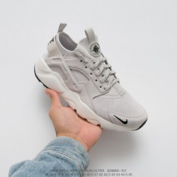 669-101 Nike Air Huarache Ultra Suede ID Flax Wallace 4th Generation Vintage Jogging Shoes Suede Off-Whit