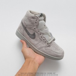 088-167 jordan/Guangdong oem air jordan 1 grey champion upper suede material premium and comfortabl