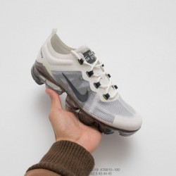 At6810-100 Nike Deadstock 19ss Season Deadstock Nike Vapormax VM3·2019 Translucent Upper Air Max Jogging Shoes Grey Pale Grey E