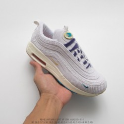 Aj4219-400 Nike New York Tide Shop Sean Wotherspoon X Air Max 1/97 VF Sw Hybrid Mixed Vintage Air Jogging Shoes The Classic Min