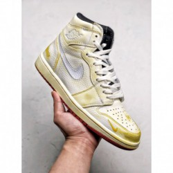 BV1803-106 Jordan/nigel Sylvester X Aj1 Vintage Crossover Upper Part Used For Old Processin