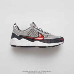 776-001 FSR Specials Nike Lab Zoom Spiridon 16 OG Spire East Relaxing Shoes Retro Black/Sport red/Red pale grey bre