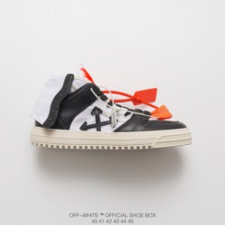 OFF- WHITE Autonomous OFFICIAL Shoe BOX Street Skate Shoes Continuation Of The Brand's Consistent Design Style, Sewing, Wind, A