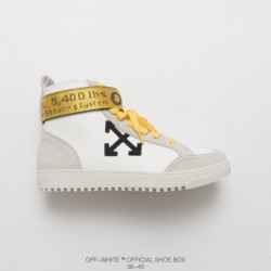 Gold waistband black/Gold upper kip skin with sheepskin lining/ Exquisite Zipper Buckle Trend Brand OFF-WHITE's Influence Every