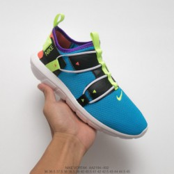 Aa2194-700 Nike Vortak Couple Trainers Shoes Fluorescent Green Classic This New Vortak Is Made Of Classic Navy Textile Fabric