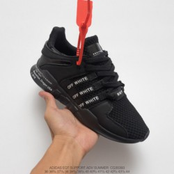 Cq3039 Adidas IDAS Off-white X Adidas EQT Support Adidas V Summer Knitting All-match Shoes Whole Black White Words Drawing 90s