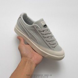 651-02 American West Coast Trends Brand Crossover Diamond Supply Co. X Puma Clyde Vintage All-Match skate shoes lividity off-Wh